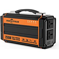 Rockpals WCE001 250 Watt Portable Rechargeable Lithium Battery Pack Solar Generator