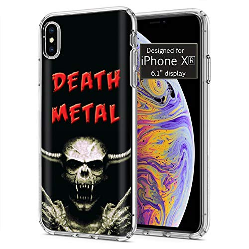 [Mobiflare] Apple iPhone Xr [Apple iPhone XR|0|0] Ultraflex Thin Gel Phone Cover [Death Metal Skull Print]