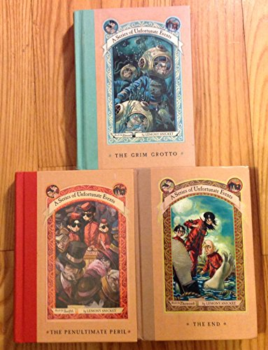 3 Books! #11,#12,#13 1) The Grim Grotto 2) The Penultimate Peril 3) The End (A Series of Unfortunate Events) (A Series Of Unfortunate Events The Penultimate Peril)