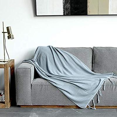 HCYTPL Tiro de Manta 100% algodón para sofá/Silla o Tiro de Cama Doble -115 * 150 cm,#1: Amazon.es: Hogar