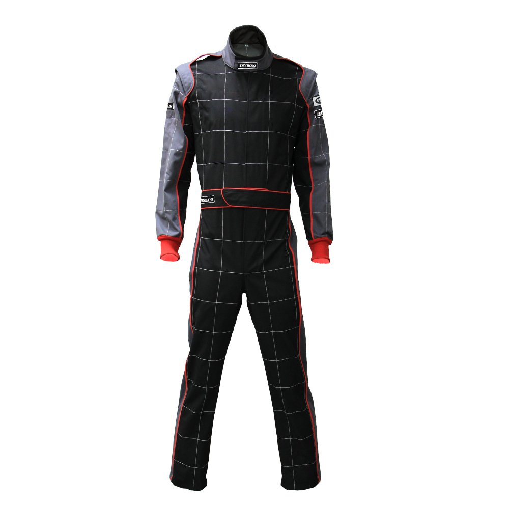 jxhracing RB-CR002 One-piece One Layer Auto Go Karts Racing Suit-X Large