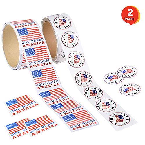 ArtCreativity American Patriotic Stickers Decorations product image
