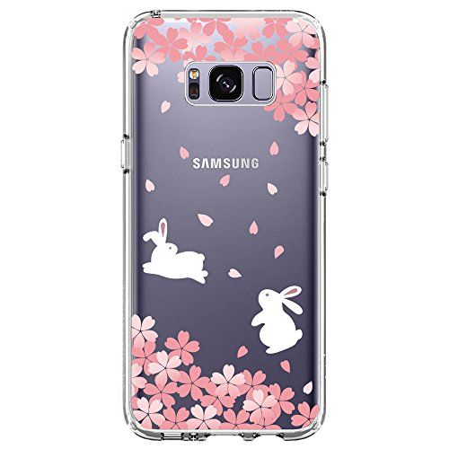 Samsung Galaxy S8 Case, SwiftBox Clear Case with Design for Samsung Galaxy S8 (Cherry Blossom and - Thru See Cherry