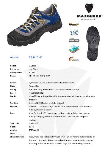 Maxguard CARL C380, Unisex-Erwachsene Sicherheitsschuhe, Blau (Blau), 46 EU