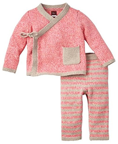 Tea Outfit (Tea Collection Cerro Bonete Sweater Outfit (Baby)-Pink Nectar-0-3 Months)