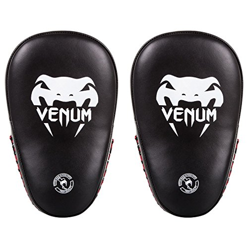 Venum Elite Small Kick Pads - Black/Red - One Size