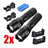 Mini Led Rechargeable High Lumen Pocket Flashlight Bicycle Front Light Headlamp with Bike Holder Bicycle Mount for Riding Cycling Camping Hiking Caving