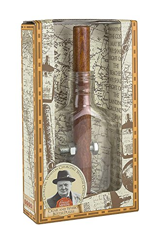 Great Minds Churchill's Cigar and Whiskey Bottle Puzzle (Churchills Cigar)