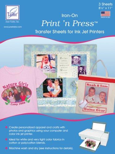 June Tailor Print 'n Press Transfer Paper- Ink Jet 3/Pkg