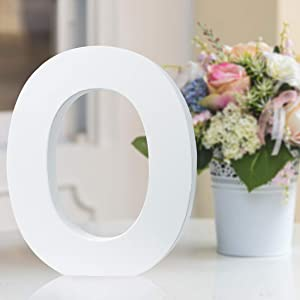 Multiple Sizes Decorative Free-Standing Alphabet Letters for Children Kids Bedroom Wedding Birthday Party Home Decor (O, 11inch / 27.94cm)