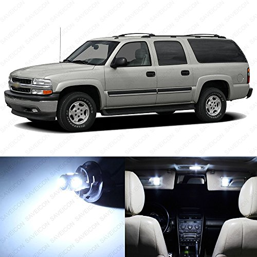 SAWE - Premium LED Light Interior Package for Chevrolet Chevy Suburban 2000 - 2006 (10 pieces) (White)