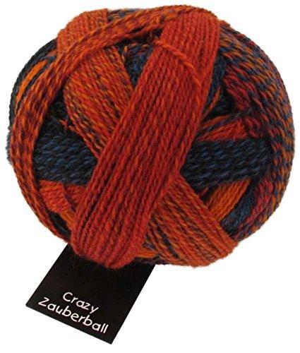 Lana para tejer calcetines locos Zauberball 1537 naranja/rojo/azul - por 100 gramos