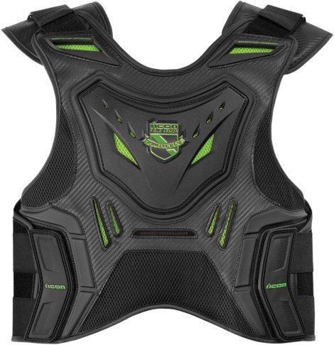 Icon Field Armor Stryker Vest CE Approved D30 Black / Green (2XL / 3XL 2701-0613)