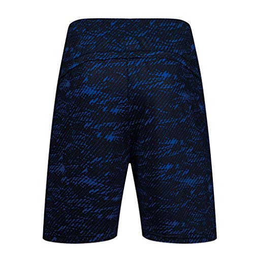 (Bsjmlxg Men's Fashion Casual Comfort Fitness Printing Fitness Shorts Sweatpants Training Running Sports Short Pants Blue)