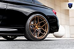 "20"" Inch Rohana RFX11 Brushed Bronze Concave Wheels Rims Only. Wheels Front 20x10 