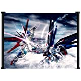 "Gundam Seed Destiny Anime Battle Scene Fabric Wall Scroll Poster (21""x16"")"