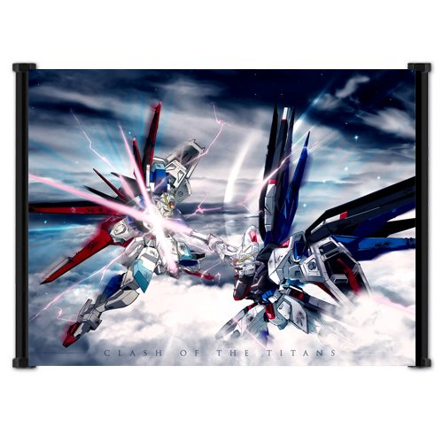 Gundam Seed Destiny Anime Battle Scene Fabric Wall Scroll Po