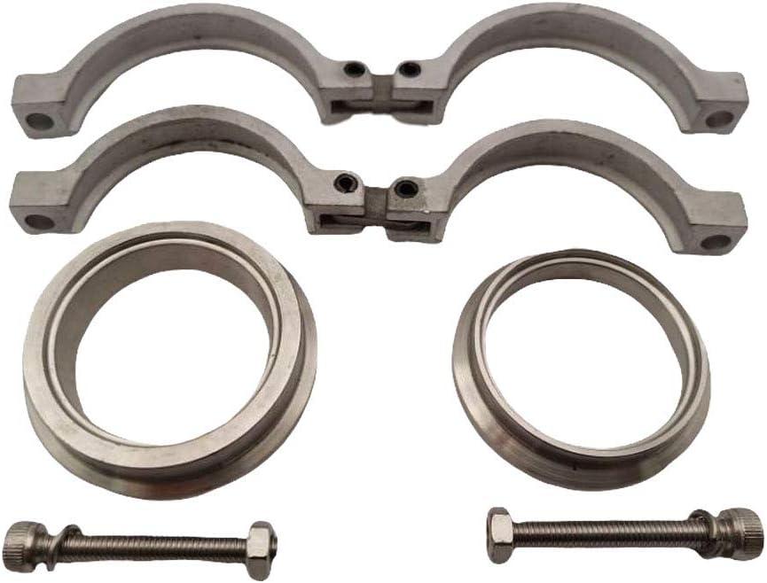 Gazechimp Nuovo Set di Flange//Morsetti Universali A V in Acciaio per V-Band Wastegate Tial 44mm