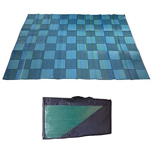 Snowbird Mat Checker 9' x 12' Blue/Green