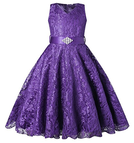 BEAUTY CHARM Girls Tulle Lace Glitter Vintage Pageant