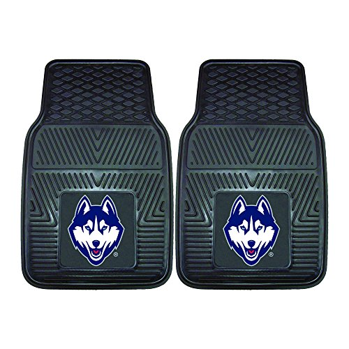 FANMATS NCAA University of Connecticut  Huskies Vinyl Heavy Duty Car Mat ()