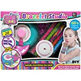 Bracelet Studio DIY for Girls - Make 28 Bracelets - 60+ Emoticons and Letters - Glam it up