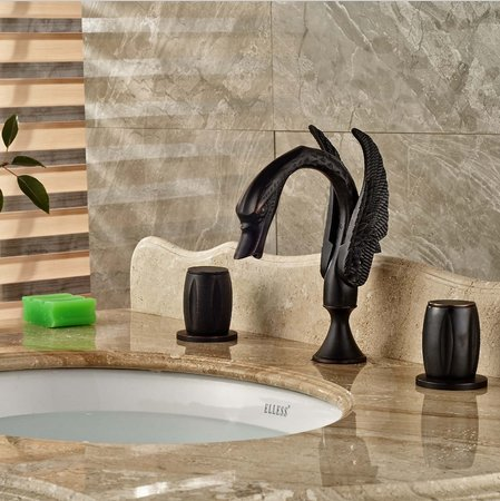 GOWE Luxury Oil Rubbed Bronze Bathroom Basin Faucet Vanity 8'' Widespread Mixer Tap by Gowe