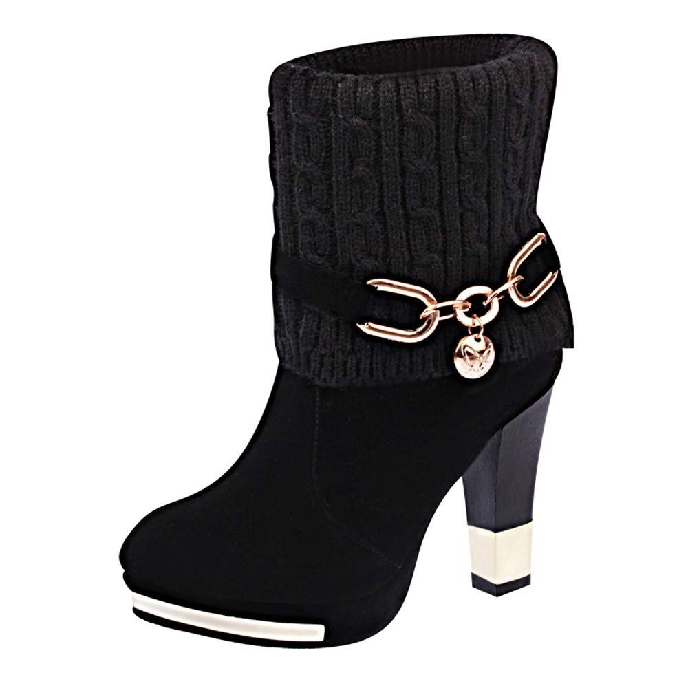 4dc885f558a BaZhaHei Fashion Women s Martin Boots Ankle Boots Sexy Stiletto High Heel  Boots Plush Short Boots Round Toe Leisure Shoes Size 2.5-7  Amazon.co.uk   Shoes   ...
