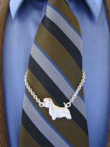 Small Sterling Silver West Highland White Terrier Standing Study Tie Chain by Bestk9buds