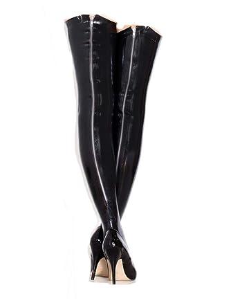 801b512db36cad Amazon.com: Premium Latex Thigh High Stockings with Zipper - Fetish ...