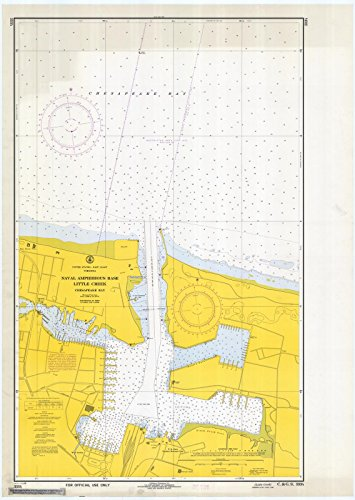 Naval Amphibious Base Little Creek (1968 Nautical Chart | Historical Naval Amphibious Base : Little Creek | VA Vintage Map Fine Art Reproduction Print)