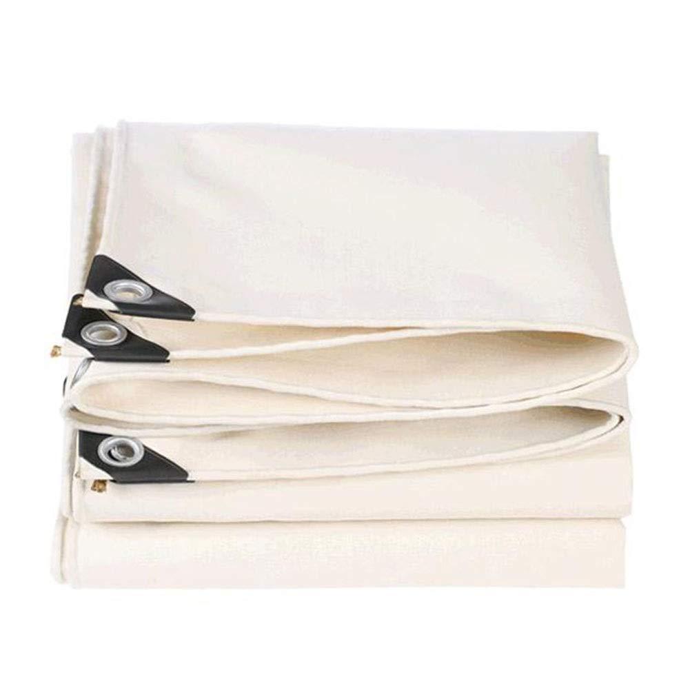 DALL ターポリン 防水 アウトドア 増粘 折り畳み可能 キャンバス 雨の布 多目的 保護カバー メタルボタンホール (Color : 白い, Size : 3×5m) 白い 3×5m