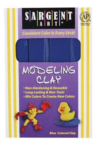 sargent-art-22-4050-1-pound-solid-color-modeling-clay-blue