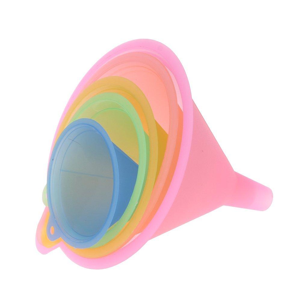 yaonow 5tlg alle Zweck wide-mouth Colorful Kunststoff Trichter Set für schnelle und saubere Übertragung Flüssigkeiten, trockene Waren, zwischen Kannen, Flaschen, Dosen und Behälter