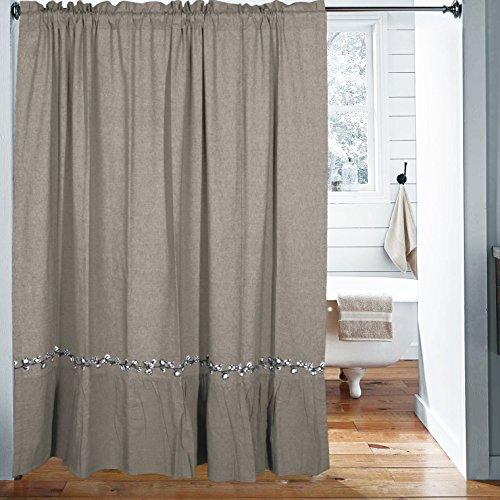 Farmhouse Cotton Shower Curtain, 72 x 72