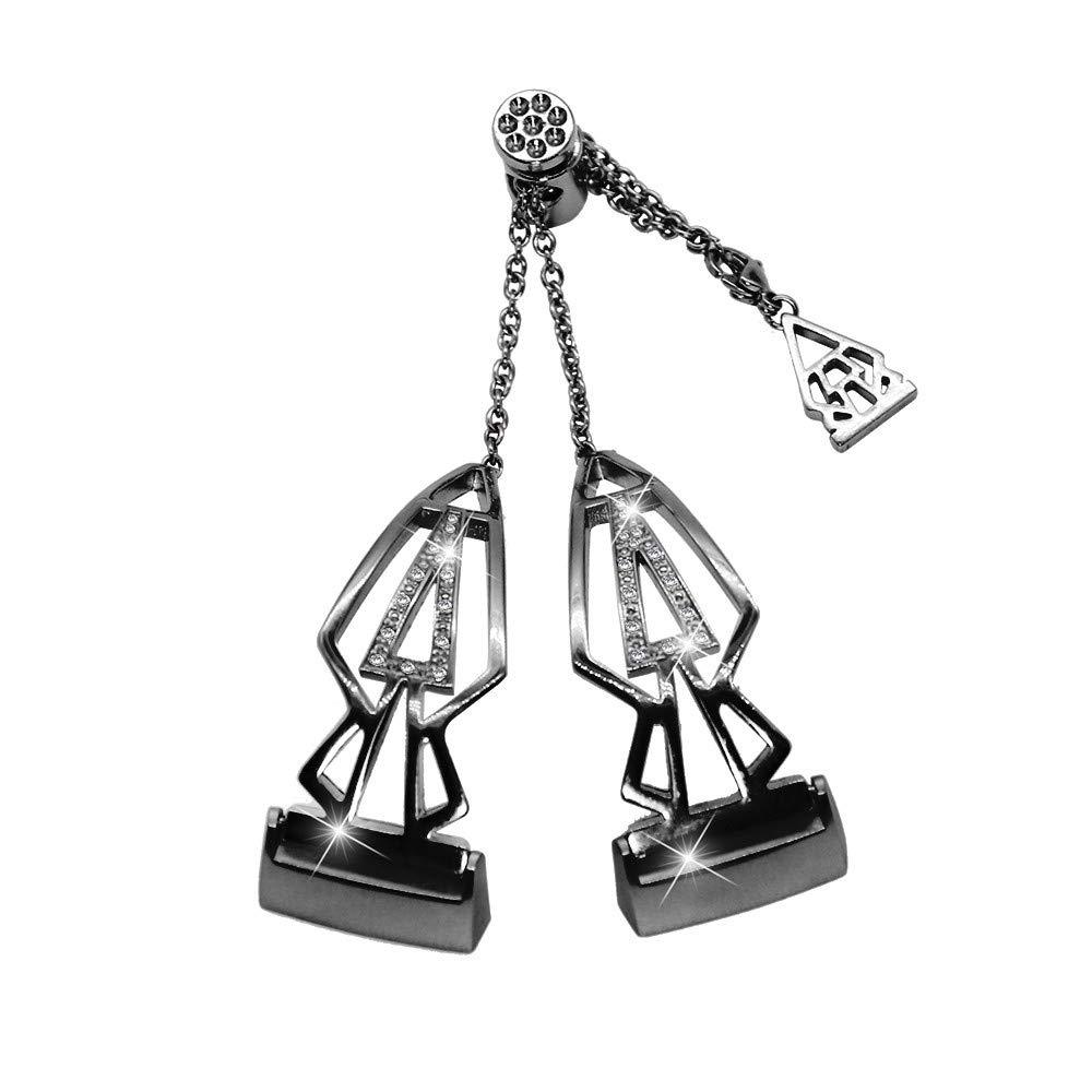 para brazaletes de Acero Inoxidable Fitbit Charge 3, con Diamantes de imitación, Correa de Repuesto para Mujer Correa de Banda de Repuesto.