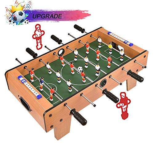 Portzon Foosball Table, Mini Tabletop Billiard Game Accessories Soccer Tabletops Competition Games...