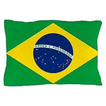 Amazon.com: CafePress Bandera de Brasil Funda de almohada ...