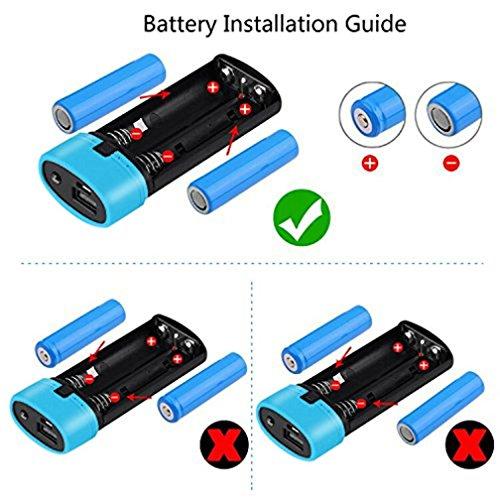 hunpta nueva 5600mAh 5V USB Power Bank Caso 18650cargador de batería DIY caja para teléfono celular azul