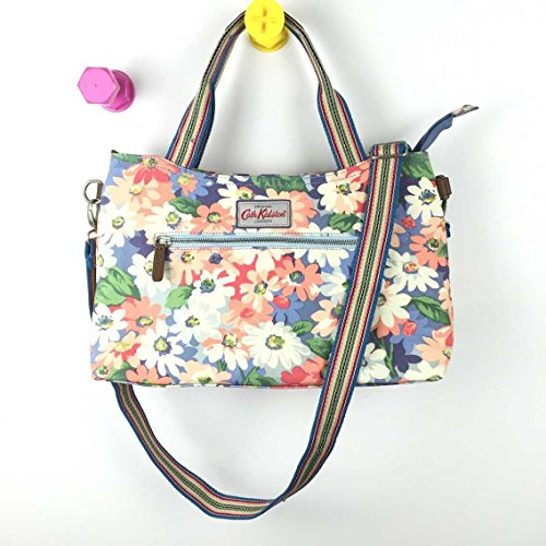 Detachable Strap Painted Matt Kidston Oilcloth with Daisy Cath Pastel Zipped 15SS Handbag qgOYwy0x