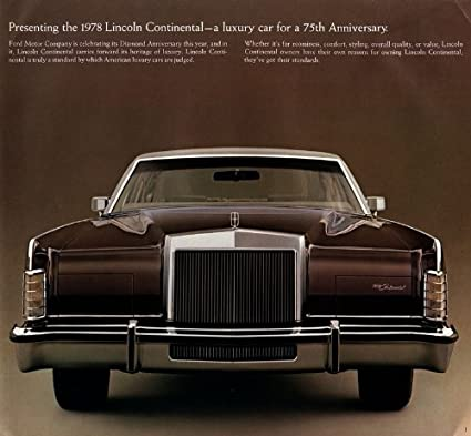 Amazon Com 1978 Lincoln Continental Vintage Prestige Color Sales
