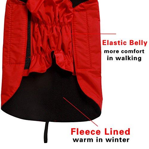 Product image of JoyDaog Fleece Lined Warm Dog Jacket for Winter Outdoor Waterproof Reflective Dog Coat Red S