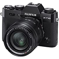 Fujifilm X-T10 Mirrorless Digital Camera with 18-55mm Lens (Black) - International Version (No Warranty)