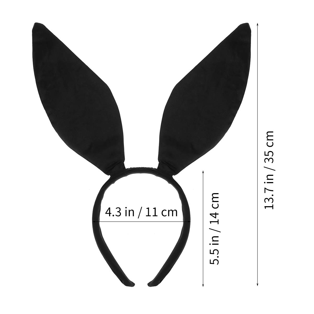 Bunny Ears Headband, Easter Sweet Sexy Rabbit Ear Hair Band for Party Cosplay Costume Accessory (Black)
