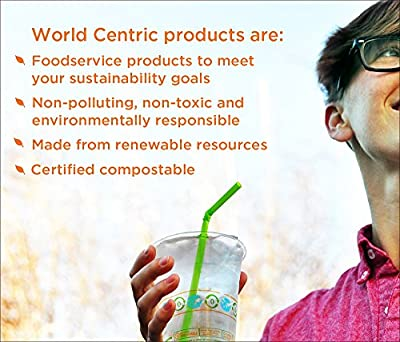 World Centric 100% Compostable Unbleached Plant Fiber Plates