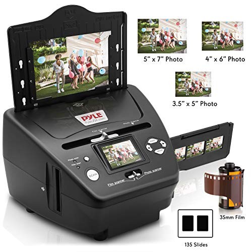 Digital 3-in-1 Photo, Slide and Film Scanner - Convert 35mm Film Negatives & Slides - With HD 5.1 MP - Digital LCD Screen, Easy to Use ()