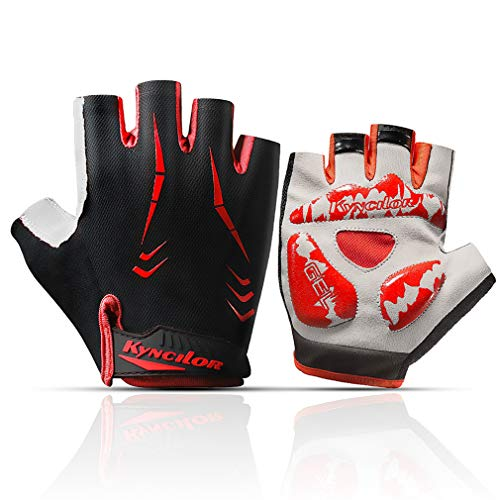 QNLYCZY Cycling Gloves Mountain Bike Gloves Half Finger Road Racing Bicycle Gloves Light Anti-Slip Shock-Absorbing Riding Gloves for Men and Women - Finger Anti Slip Glove