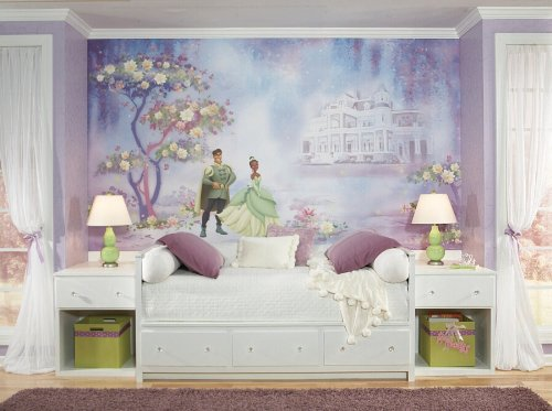 RoomMates Princess & Frog Chair Rail Prepasted, Removable Wall Mural - 6' X 10.5' by RoomMates (Image #1)