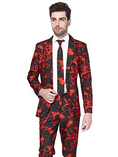 Suitmeister Halloween Costumes for Men – Black Blood - Include Jacket Pants & Tie ()