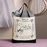 Fun Express - (XL Bride Tote Bag for Wedding - Apparel Accessories - Totes - Novelty Totes - Wedding - 1 Piece